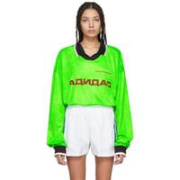 polo hoodie l toptan satış-18FW GOSHA RUBCHINSKIY POLO Tee Jersey Kazak Kazak Açık Rahat Dikiş Sokak Kazak O-Boyun Uzun Kollu Hoodies HFYMWY128