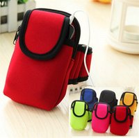 Wholesale Baseball Phone Covers - Sports universal all phone Armband Arm Band Waterproof Phone Cases Cover Gym Run Fitness Wrist Hand Belt Pouch bag