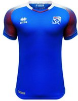 Wholesale Island Shirts - Iceland 2018 World Cup island jerseys home SIGURDSSON SIGTHORSSON top quality soccer jerseys 18 19 Iceland national football shirts