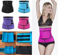 Wholesale abdominal belt corset resale online - 1Pc Neoprene Abdominal Belt High Compression Zipper Plus Size Waist Cincher Corset Underbust Bodysuit Sweat Waist Trainer