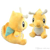 Wholesale cloth figures resale online - 18CM Dragonite Plush Doll Toys Cartoon Soft Stuff Animals Dolls Kawaii Animals Figure Toy for Baby Kids Christmas Gifts