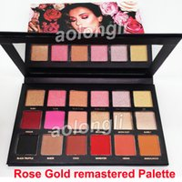 Wholesale eyeshadow palette - Factory Direct Brand Beauty Rose Gold remastered eyeshadow Palette Shimmer Matte Rose Gold Textured Eye shadow Colors makeup DHL free