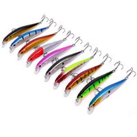 Wholesale minnow floating lure online - 10pcs set Wobblers Minnow cm g Floating Artificial Fishing Baits Hard Lure Swimbait Trout Fishing Lures Crankbait Minnow