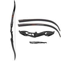 arco de tiro con arco objetivo al por mayor-Profesional 56 pulgadas 30-50lbs Conjunto de flechas de ballesta Tiro con arco Caza Derribo Metal Recurvado Arco Mano derecha Objetivo
