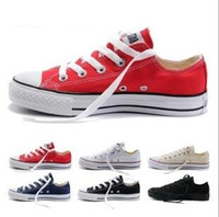 ingrosso le donne grandi dimensioni di scarpe-2017 New star big Size 35-45 Scarpe casual Low top stars Scarpe di tela classiche da uomo / Scarpe di tela da donna