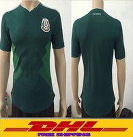 Wholesale Wholesale Mexico - DHL Free shipping 2018 Mexico Soccer Jersey Home Player version 18 19 Mexico Camisetas de futbol football shirts Size can be mixed batch