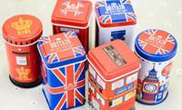 metall-dosen süßigkeiten-box großhandel-Hausgarten heißer Metall Candy Telefonzelle Dosen Aufbewahrungsbox Schmuck Zinn Schmuck Eisen Tee Münze Aufbewahrungsbox Platz Box Fall