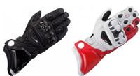 Wholesale genuine leather glove - 2018 New Original genuine leather Gloves GP PRO Gloves road race bicycle riding Moto Valentino gloves