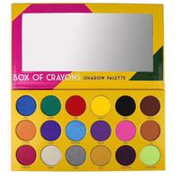 göz farı vakaları paleti toptan satış-Dropshipping makyaj Göz Farı Paleti boya kalemi ofhadow paleti Kutusu Kozmetik 18 Renk Pırıltılı Güzellik Mat Göz farı CRAYONS KıLıFı
