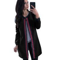 araba uzun kollu toptan satış-Yeni Sıcak Kadın Moda Düz Renk Cepler Dokuma Kazak Ceket Ceket Bayanlar Casual Sonbahar Sıcak O Boyun Uzun Kollu Ceket Araba