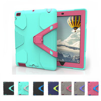 Wholesale drop tablets for sale - Heavy Duty Shockproof Armor Case for iPad pro9 Air2 mini123 Silicon Anti drop Robot Tablet PC Cases Kickstand Cover