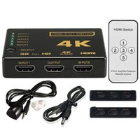 Wholesale hdmi splitter extender for sale - HDMI Splitter Switch Box Ultra HD Port K D P IR Remote Control Selector in Extender For HDTV P Vedio