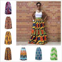 traditionelle tuchstile großhandel-2018 heißer verkauf sexy frauen langen afrikanischen rock maxi gedruckt traditionellen afrika stil tuch dame lose rock weiblich plus größe s-xl