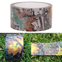 Wholesale 10mx0 m Army Camo Outdoor Hunting Shooting Tool Camouflage Stealth Tape Waterproof Wrap Rifle accessories
