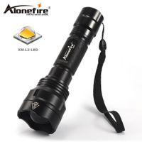 Wholesale Lens For Flashlight - AloneFire X510 XM-L2 New Design Aluminum Convex Lens Zoom Lens Led Light Flashlight For 1 x 18650 Battery
