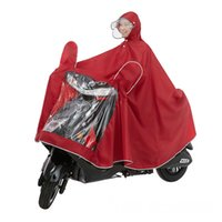 Wholesale raincoat online - Double Hat Brim Conjoined Raincoat Single Person Enlarge Motorcycle Rain Cape Electric Vehicle Raincoats Pure Color ol bb