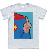 Wholesale mail art online - Super Man Pop Art Tee Retro Vintage Hipster Daily Mail Comic T shirt Tumblr Top