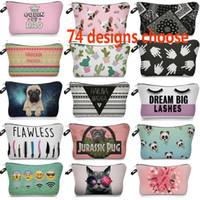 Wholesale multi function lips resale online - Multi function Toiletry Bag Makeup Bags For Lip Emoji Letter Skull Printed Cosmetic Bags Grocery Storage Bags Designer HH7