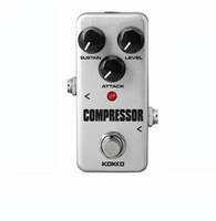efectos de mini guitarra al por mayor-KOKKO FCP2 Compresor Pedal de Efectos de Guitarra Mini Efectos de Guitarra Eléctrica Bajo Ture Bypass Envío Gratis