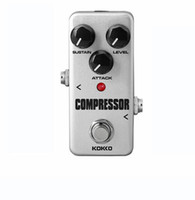 Wholesale KOKKO FCP2 Compressor Guitar Effect Pedal Mini Electric Bass Guitar Effects Ture Bypass