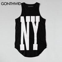 lange übergroße t-shirt mens großhandel-Gonthwid New York Ny Erweiterte  Tank Tops Mens 11340278e6