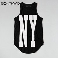 ccc45d8e8820b Wholesale urban casual t shirt online - Gonthwid New York Ny Extended Tank  Tops Mens Urban