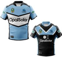Wholesale rugby shirts cheap - 2018 Cronulla Sharks Rugby shirt Sport Cheap Jerseys NRL Paul Gallen Luke Lewis Valentine Holmes WADE GRAHAM HOT