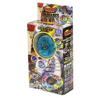 Wholesale Spinning Flashing Toys - Colourful Metal Rotate Gyroscope Kid Toys Classic Alloy Luminous Spinning Top Toy New Arrive 4 25sc C