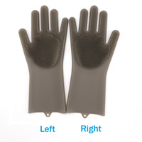 Wholesale packing dishes for sale - Reusable Magic Silicone Gloves Heat Resistant for Cleaning Household Dishwashing Washing the Car Pet Hair Care Pair PACK Gray