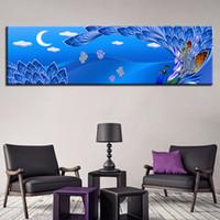 ingrosso pavone di pittura di tela di arte della parete-HD Stampe su tela pittura Home Nordic Style Decoration 1 pezzi Wall Art Peacock animali modulari Immagini Artwork Corridoio Poster