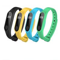 waterproof tracker bracelet 2018 - Hot Sale M2 Fitness tracker Watch Band Heart Rate Monitor Waterproof Activity Tracker Smart Bracelet Pedometer Call remind Health Wristband
