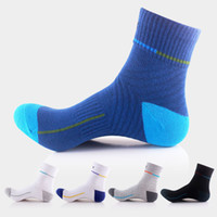 Wholesale cycling crew socks resale online - Outdoor Professional Basketball Sock Cotton Breathable Sports Crew Socks Sport Socks Cycling Bicycle Socks Support FBA Drop Shipping G509S