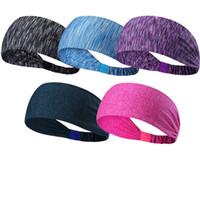 banda de pelo de yoga caliente al por mayor-Bandas para el cabello de yoga para deportes de secado rápido Bandas elásticas altas Unisex multicolor Desgaste de la cabeza suave para los accesorios para el cabello Venta caliente 9gy Z