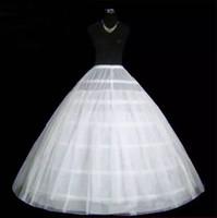 organza petticoat weiß großhandel-Großhandel Hochzeitskleid Petticoat Slip Einstellbare Taillengröße Zwei Schichten Drei Hoops Brautunterrock Crinolines Hochzeit Zubehör