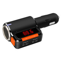 Wholesale car cigarette lighter usb mp3 player online - Bluetooth Hands Free Car Charger Car Kit Car Cigarette Lighter Radio Audio MP3 Player Dual USB Output LED Display Window