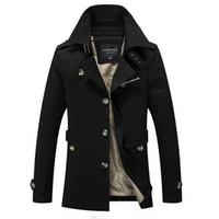 ingrosso cappotti invernali britannici-Nuovi uomini giacca invernale moda stile britannico marchio di abbigliamento giacca a vento cappotto caldo cappotto militare maschile Jaqueta masculino