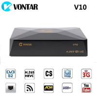 Wholesale receiver satellite wifi usb for sale - 20pcs VONTAR V10 H DVB S2 PSK Digital Satellite Receiver Support G G modem CS cline Stalker Xtream USB Wifi CCAMD NEWCAMD MGCAMD