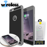 Wholesale qi wireless charge receiver - QI Wireless Charger Receiver cases phone Case Universal Adapter V A Charging with package For iPhone S Plus