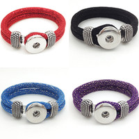 Wholesale Cashmere Jewelry - whole saleSale One Direction Jewelry Bracelets For Women Snap Button Jewelry 20cm Korea Cashmere Bracelet Br1722 (fit 18mm 20mm Snap)