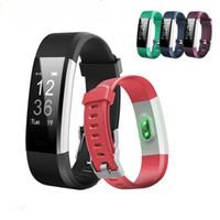 полоса частот оптовых-ID115 HR Plus Smart Wristband фитнес-приложение GPS-трекер активности Smart Bracelet HR Sleep Monitor Smart Band BT-камера и музыкальный пульт дистанционного управления