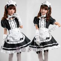 ingrosso cosplay di halloween più il formato-Sexy costume da cameriera francese Sweet Gothic Lolita Dress Anime Cosplay Sissy Maid Uniforme Plus Size Costumi di Halloween per le donne