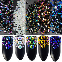 стильные телефонные наклейки оптовых-Multi colors 2mm 10000pcs Flatback Resin Rhinestones DIY Mobile Phone Nail art sticker Decoration ,Gel Polish rhinestones