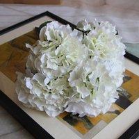 grandes plantes artificielles achat en gros de-Hortensia Fleurs Artificielles 5 Grandes Têtes 2 Bounquet Décoration De Mariage Plantes Artificielles Accessoires De Décoration