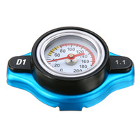 Wholesale psi gauge - Universal Car 1.1 Bar Thermostatic Thermo Radiator Cap High Quality 16 PSI Pressure Rating Temperature Gauge Radiator Cover