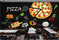 Wholesale home shopping kitchen online - Home Decoration Custom wallpaper mural black hand painted Italian pizza shop western restaurant background wall photo wallpaper