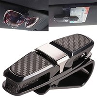 Wholesale Sunglasses Holder Clips - Car Auto Sun Visor Glasses Sunglasses Card Ticket Holder Clip Accessory Black Sun Visor Glasses Sunglasses Card Ticket Holder BBA253