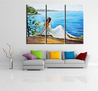 Wholesale canvas prints three panel resale online - Three combination Painting of Wlaa Art Landscape Painting Wall decoration Art decoration Landscape Reliable quality decorative