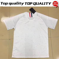 Wholesale Soccer 12 - 2018 world cup POGBA away Soccer Jersey 7 GRIEZMANN away white Soccer Shirt 2018 world cup #15 POGBA #12 MBAPPE football Uniform Sales