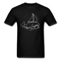 ingrosso best animal amici-Best Friend T-Shirt per uomo Whale Boat Graphic Moda uomo manica corta T-shirt in puro cotone divertente T-Shirt Animal