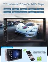 estereofonia de duplo carro universal venda por atacado-Câmera de Backup sem fio Eincar Dupla Din Universal Car MP5 Player 7 '' Tela de Toque de Reprodução de Vídeo de Áudio Receptor de Rádio Bluetooth FM USB / TF AUX